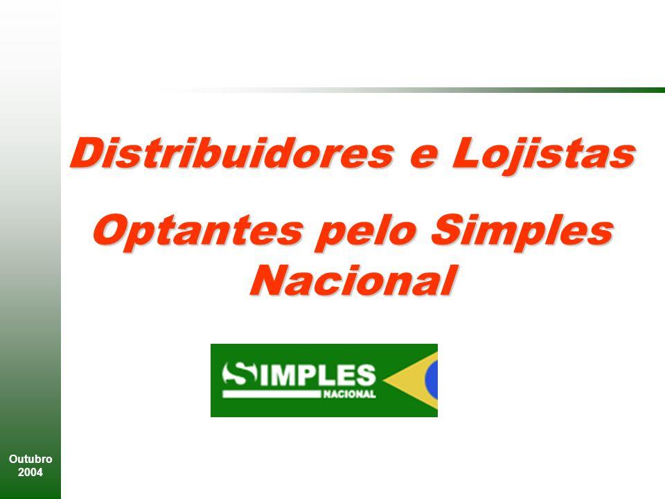 Outubro 2004 Distribuidores e Lojistas Optantes pelo Simples Nacional