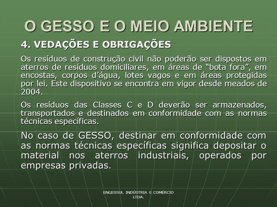 ENGESSUL INDÚSTRIA E COMÉRCIO LTDA.O GESSO E O MEIO AMBIENTE 5.