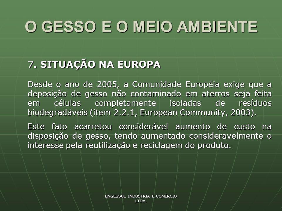 ENGESSUL INDÚSTRIA E COMÉRCIO LTDA.O GESSO E O MEIO AMBIENTE 8.