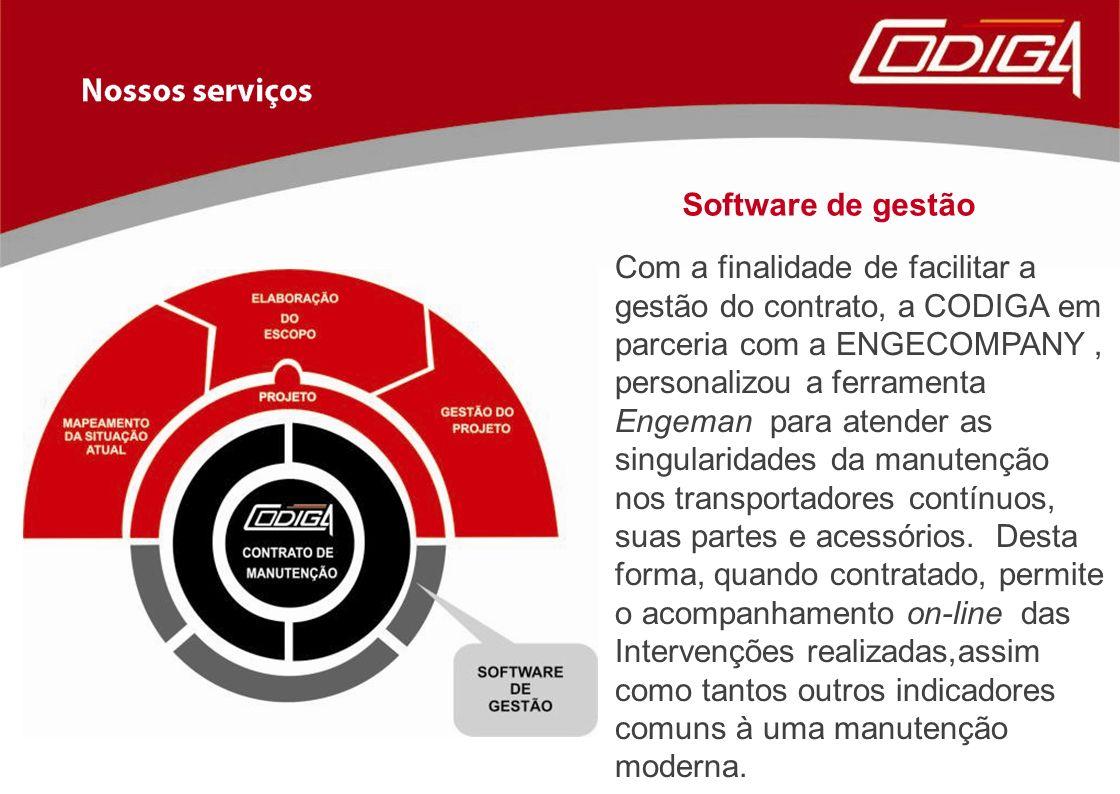 Com a finalidade de facilitar a gestão do contrato, a CODIGA em parceria com a ENGECOMPANY, personalizou a ferramenta Engeman para atender as singular