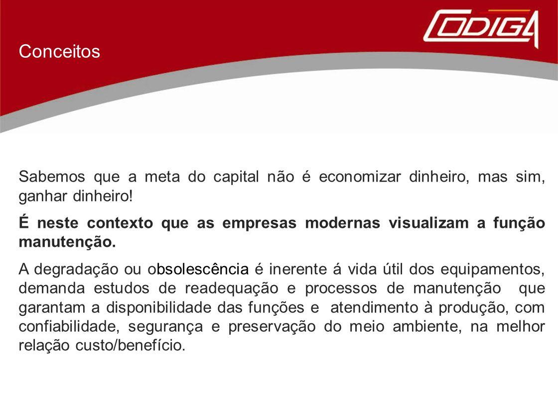 Sabemos que a meta do capital não é economizar dinheiro, mas sim, ganhar dinheiro! É neste contexto que as empresas modernas visualizam a função manut