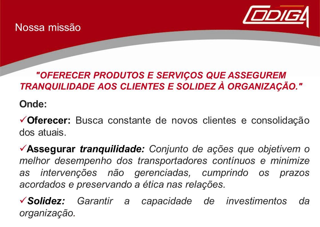 Com a finalidade de facilitar a gestão do contrato, a CODIGA em parceria com a ENGECOMPANY, personalizou a ferramenta Engeman para atender as singularidades da manutenção nos transportadores contínuos, suas partes e acessórios.
