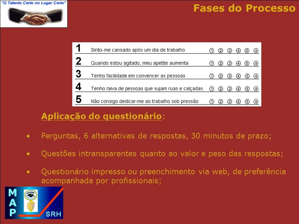 Cálculo dos resultados com software de última geração: Processamento via WEB com obtenção direta dos relatórios resultantes; Processamento pelo cliente com o software instalado nos seus equipamentos; Fases do Processo