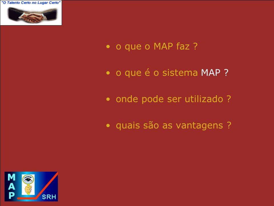 O QUE O MAP FAZ .
