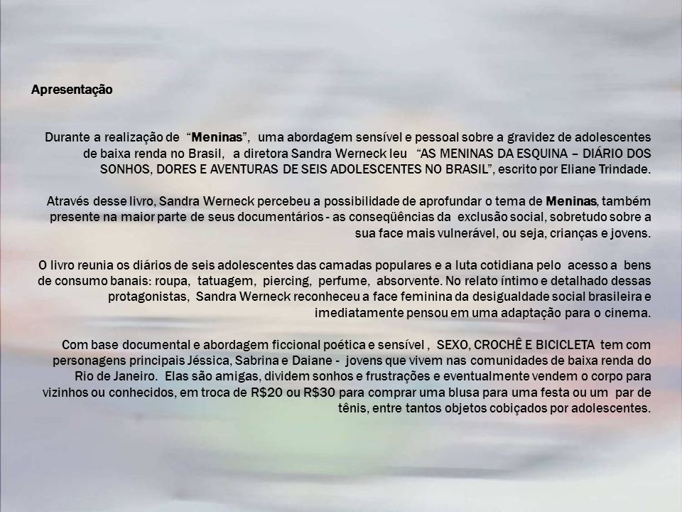 MECANISMOVALORES APROVADOSVALORES CAPTADOSSALDO ART 1º - Lei 8.685/93R$ 2.000.000,00R$ 1.000.000,00 ART 3º - Lei 8.685/93R$ 2.000.000,00 R$ 0,00 ART 1º-A - Lei 8.685/93 Antiga lei 8.313/91 ( ROUANET) R$ 1.791.685,54R$ 1.000.000,00 R$ 791.685,54 CONTRAPARTIDAR$ 304.825,55-- TOTAL ICMS R$ 6.096.511,09 R$ 437.300,00 R$ 3.000.000,00 - R$ 2.791.685,54 R$ 437.300,00 Captação Valores já captados: R$ 1.000.000,00 – Petrobras R$ 2.000.000,00 –Columbia Pictures - Art.3º R$ 1.000.000,00 - BNDES