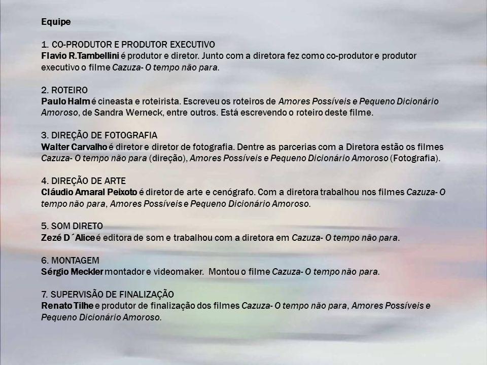 Equipe 1. CO-PRODUTOR E PRODUTOR EXECUTIVO Flavio R.Tambellini é produtor e diretor. Junto com a diretora fez como co-produtor e produtor executivo o