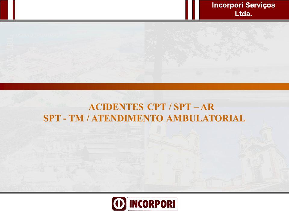 Incorpori Serviços Ltda. Segurança para Todos Inteligente é Praticar ACIDENTES CPT / SPT – AR SPT - TM / ATENDIMENTO AMBULATORIAL