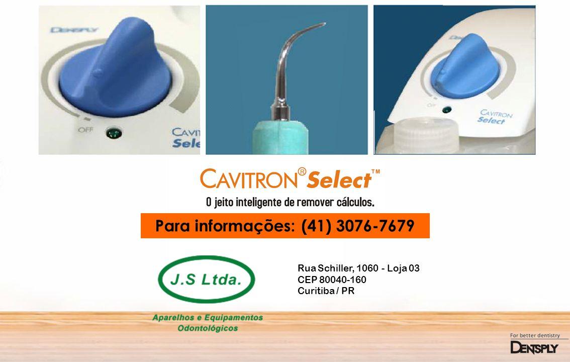 Para informações: (41) 3076-7679 Rua Schiller, 1060 - Loja 03 CEP 80040-160 Curitiba / PR
