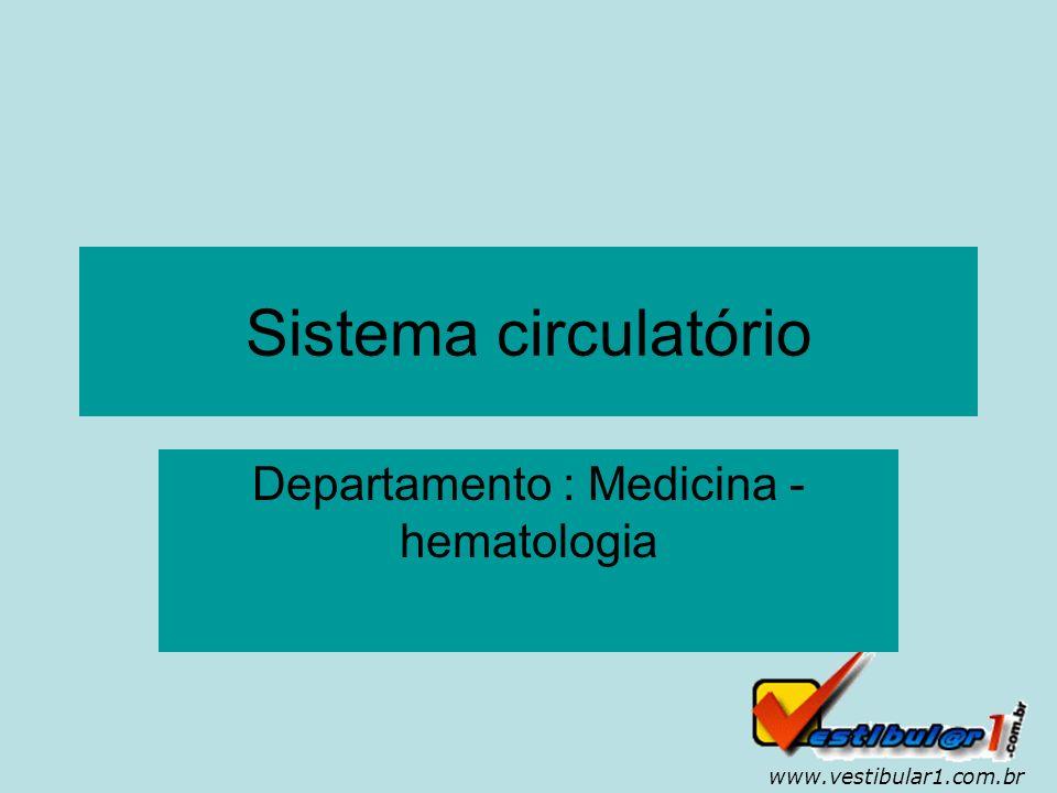 www.vestibular1.com.br A circulação fechada Nos homens, assim como nos outros vertebrados, a circulação é do tipo fechada, isto é, o sangue só circula no interior dos vasos.