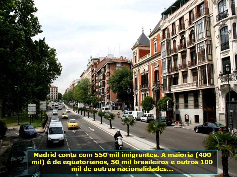 Madrid, cidade das touradas, foi fundada pelos árabes no séc. IX, conta hoje com população aproximada de 3 milhões de habitantes...