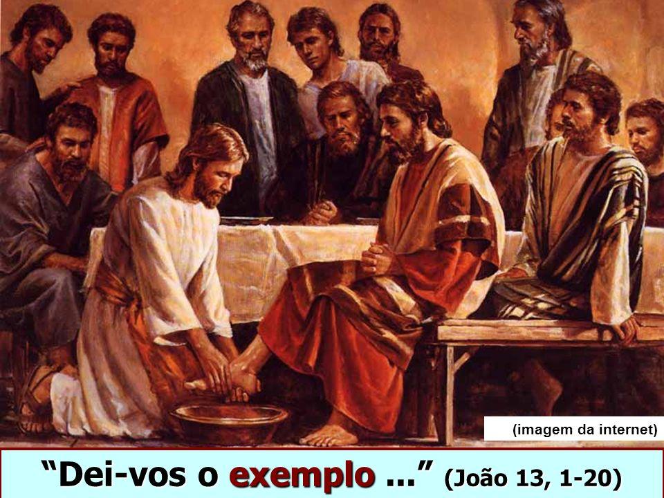 Dei-vos o exemplo... (João 13, 1-20) (imagem da internet)