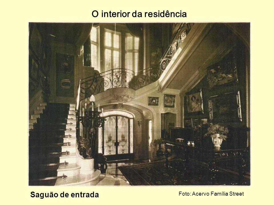 Face oeste Foto: Acervo Família Street Entrada principal do palacete