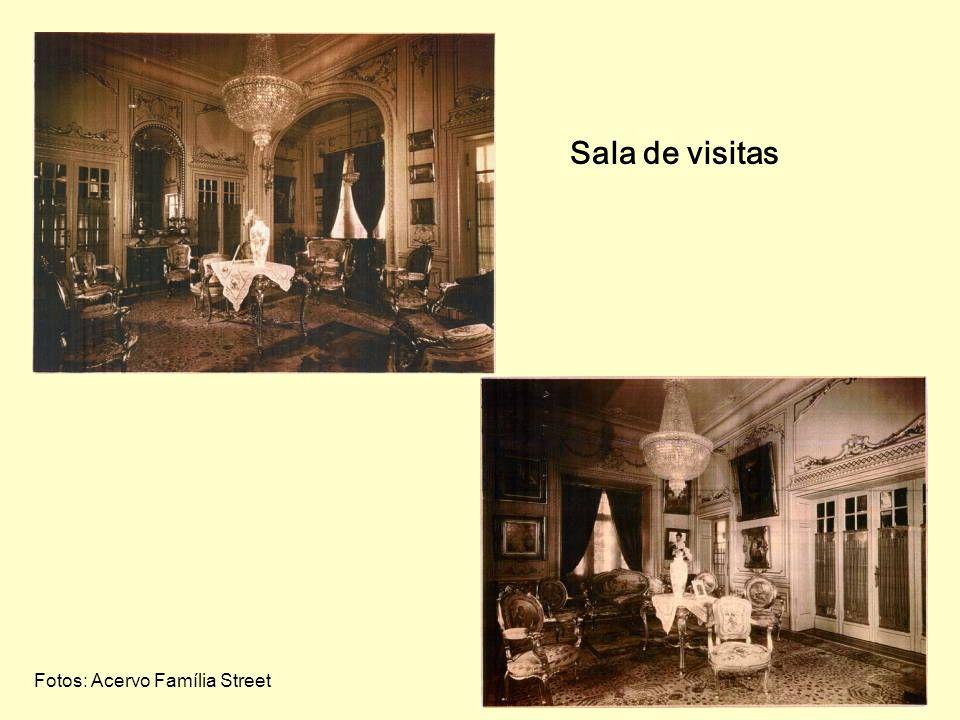 O interior da residência Saguão de entrada Foto: Acervo Família Street