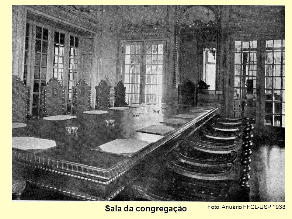 Foto: Anuário FFCL-USP 1938 Sala do diretor