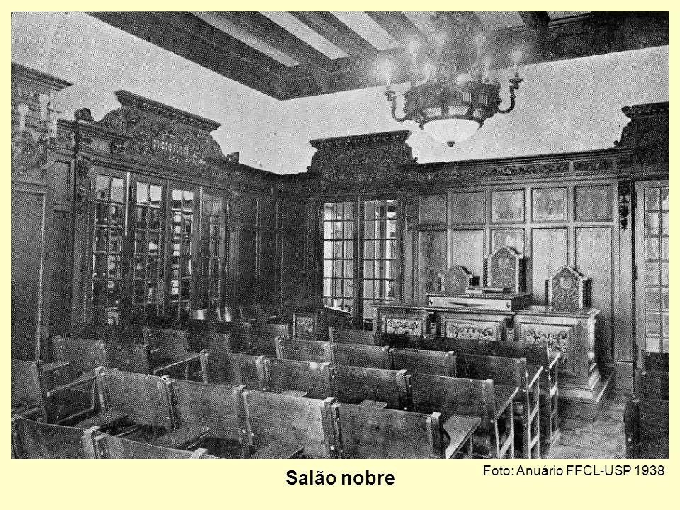 Foto: Anuário FFCL-USP 1938 Sala da congregação