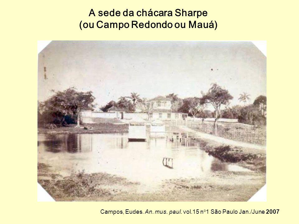Campo Redondo – região de chácaras entre a Ponte Grande e os bairros atuais de Campos Elíseos, Luz, Bom Retiro e Santa Cecília. São Paulo na segunda m