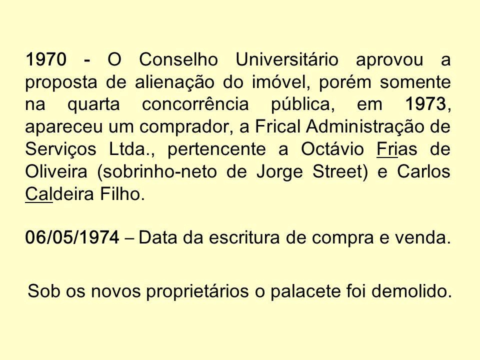 A reforma universitária de 1969 criou os Institutos e extinguiu a FFCL. Em 32 anos (1938-1969) passaram, pelo campus Glette da USP mais de mil glettia