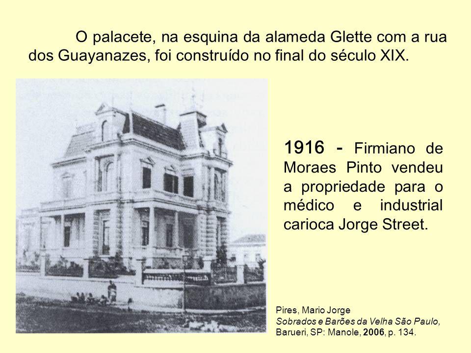 A administração da FFCL-USP no Palacete Street Planta: Anuário FFCL-USP 1938 http://www.pitoresco.com.br/espelho/valeapena/450anos/450anos.htm