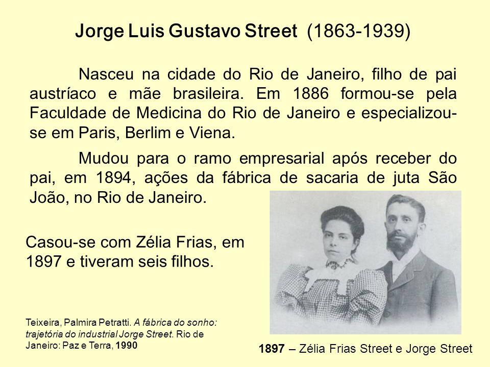 Jorge Luis Gustavo Street (1863-1939) Nasceu na cidade do Rio de Janeiro, filho de pai austríaco e mãe brasileira.