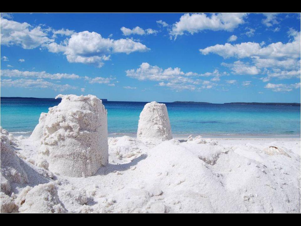 Figura no livro Guinness como a praia de areia mais branca do mundo. Fica na Nova Gália do Sul, a duas horas e meia de Sydney, é a Hyams Beach. Sua ar