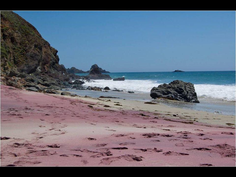Praia Pfeiffer, Big Sur, California. Areia púrpura