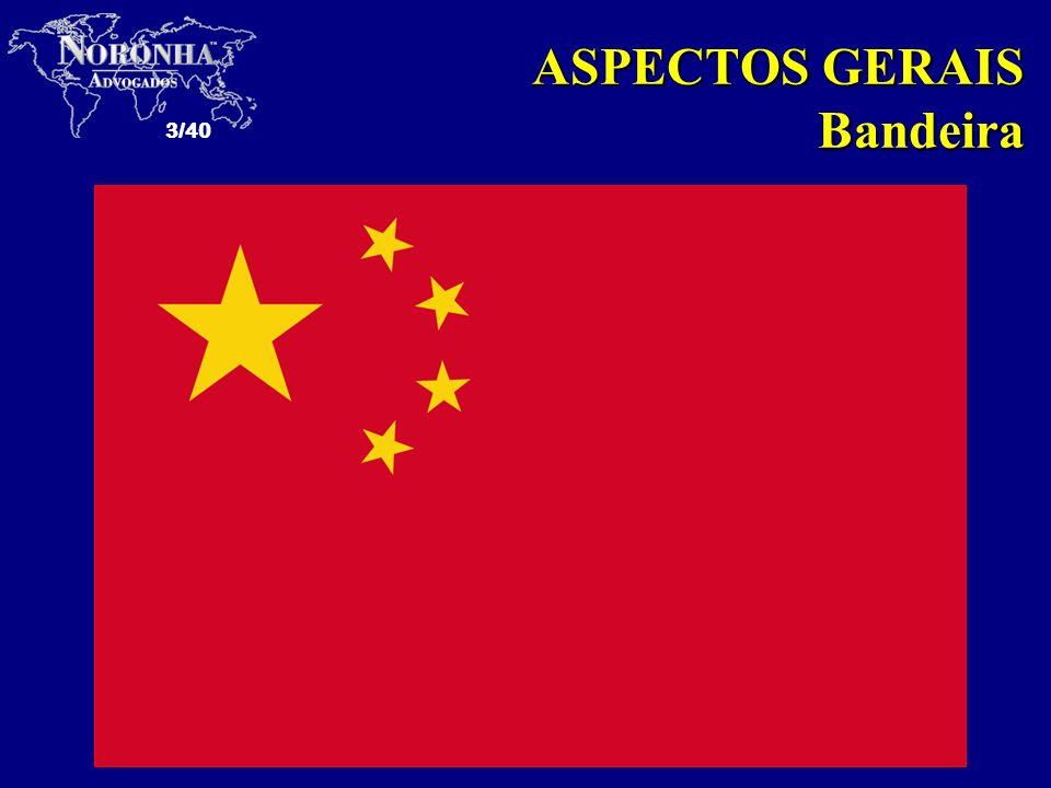 3/40 ASPECTOS GERAIS Bandeira