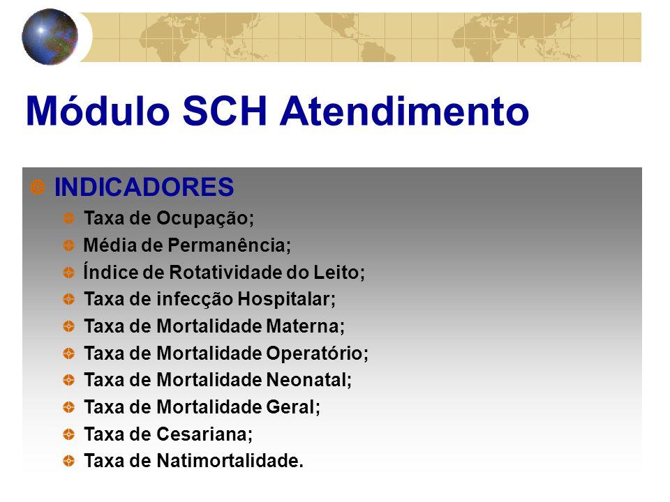 INDICADORES Taxa de Ocupação; Média de Permanência; Índice de Rotatividade do Leito; Taxa de infecção Hospitalar; Taxa de Mortalidade Materna; Taxa de Mortalidade Operatório; Taxa de Mortalidade Neonatal; Taxa de Mortalidade Geral; Taxa de Cesariana; Taxa de Natimortalidade.