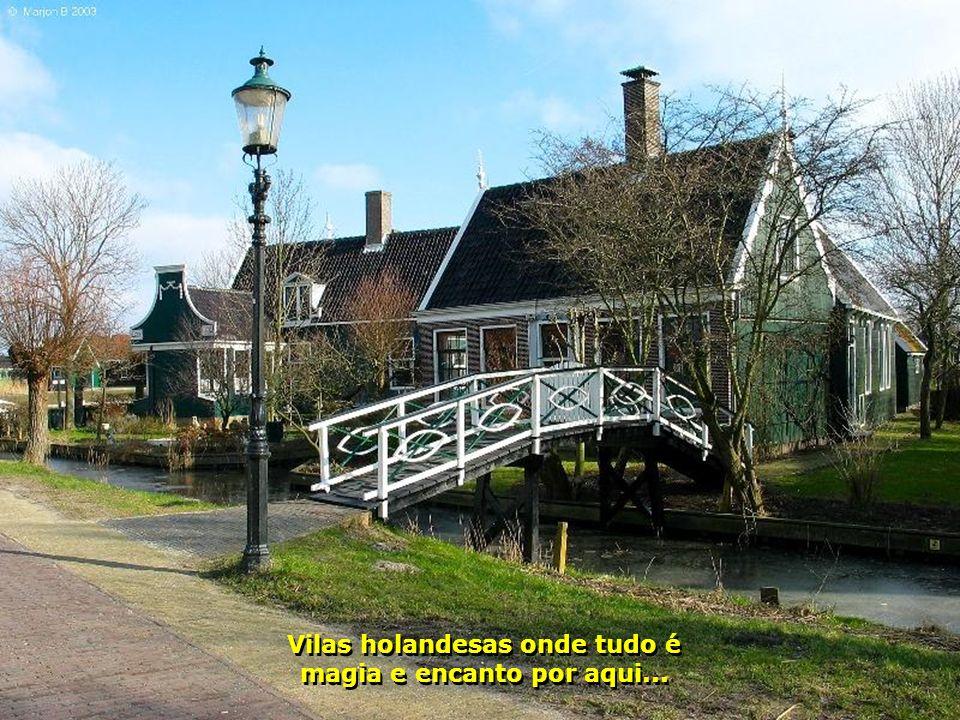 Os moinhos de ventos usados para gerar energia e bombear água. A Holanda possui mais de 1 000 deles...