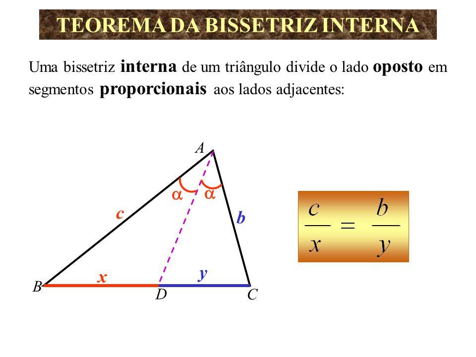 TEOREMA DE TALES Dados: um feixe de retas paralelas e retas transversais, a razão entre as medidas dos segmentos quaisquer de uma das transversais é igual à razão entre as medidas dos segmentos correspondentes de outra.