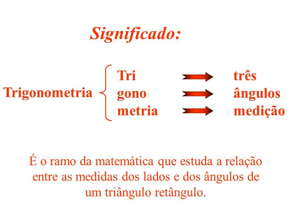 RELAÇÕES MÉTRICAS E TRIGONOMÉTRICAS NO TRIÂNGULO RETÂNGULO