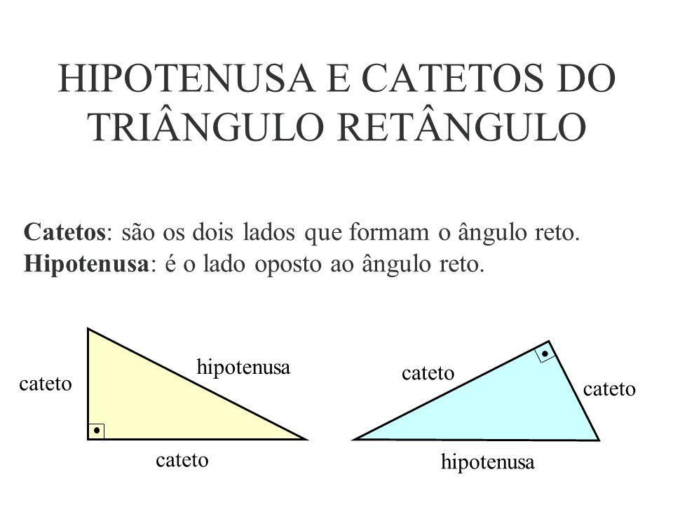 Os lados de um triângulo retângulo recebem nomes especiais.