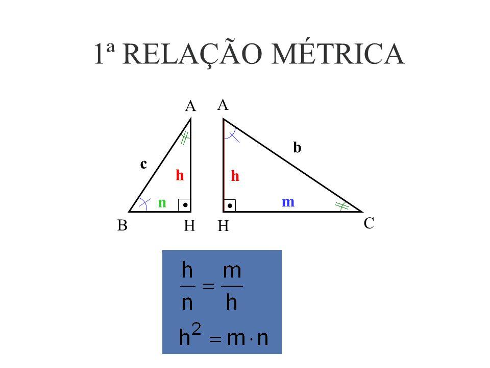 CONCLUSÃO Como = e =, os triângulos ABC, ABH e ACH são semelhantes pelo caso (AA).