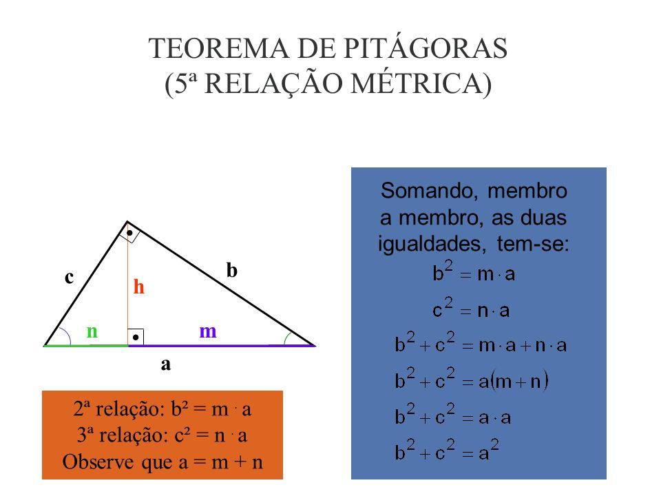 4ª RELAÇÃO MÉTRICA c h n h c n A H B a b c b c A B C a