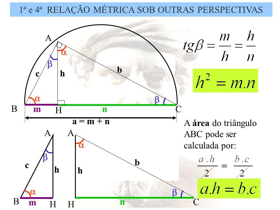 TEOREMA DE PITÁGORAS A B C a b c Em um triângulo retângulo, o quadrado da hipotenusa é igual à soma dos quadrados dos catetos.