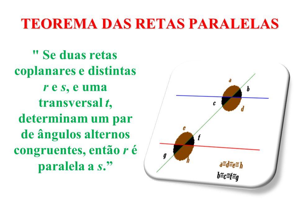 TIPOS DE ÂNGULOS POSIÇÃO Ângulos colaterais internos: estão do mesmo lado da transversal, entre as paralelas, a soma dos ângulos é 180º(suplementares).