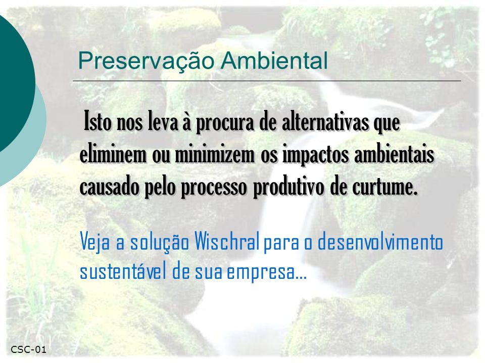 Preservação Ambiental Isto nos leva à procura de alternativas que eliminem ou minimizem os impactos ambientais causado pelo processo produtivo de curtume.