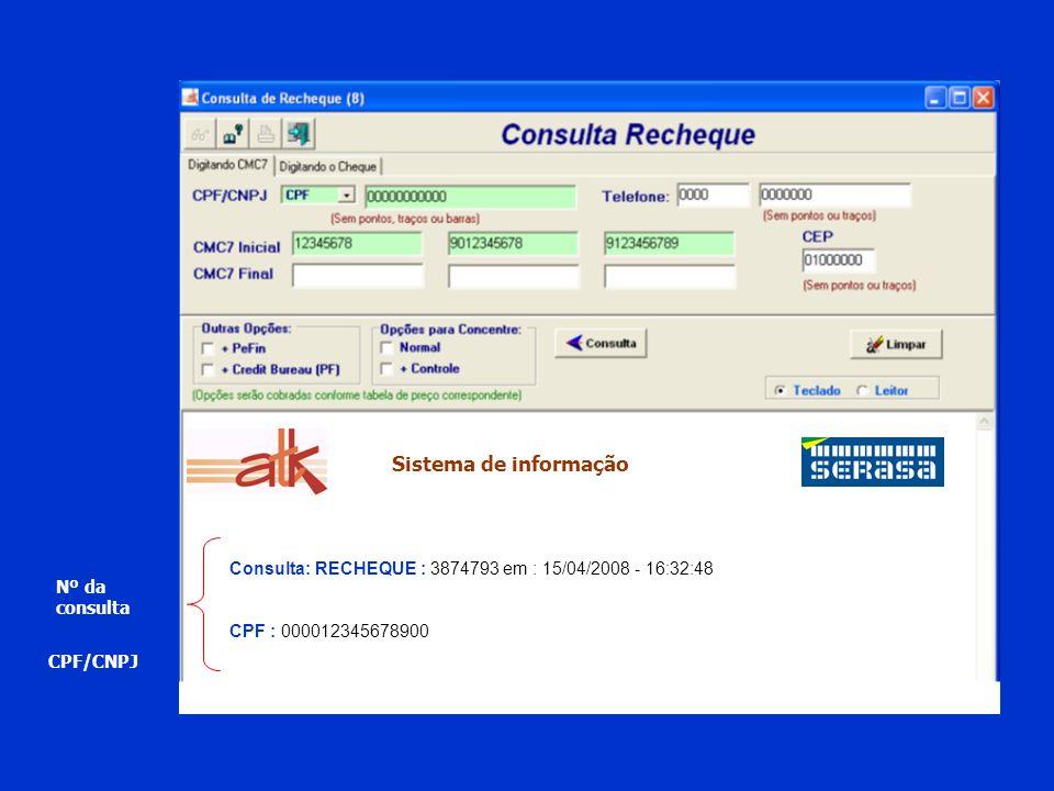 Banco : 230 - BARDESCO - Participa do Recheque CMC7 : 23806764-0190001867-778587838345 --------------------------------------------------------------------------------------------------------------------------------- Confirmei: Nome: JOSE MODELO DA SILVA Data de Fundação/Nascimento: 24/10/1927 Situação na Receita Federal : Suspensa Data de Situacão: 09/11/2007 Mensagem referente ao documento: Nome da mae do documento: CLORINDA MAKUKO GEOVAN --------------------------------------------------------------------------------------------------------------------------------- Pendências Internas : Não constam Ocorrências ---------------------------------------------------------------------------------------------------------------------------------- Cheques sem Fundos - Varejo : Não constam Ocorrências ---------------------------------------------------------------------------------------------------------------------------------- Cheque sem Fundo no Bacen/CCF : Consta(m) 00025 cheque(s) sem fundo(s), sendo a ocorrência mais recente em 23/05/2006 a ocorrência mais antiga em 23/05/2006 no banco BARDESCO, agência 0656, Código de Compens.