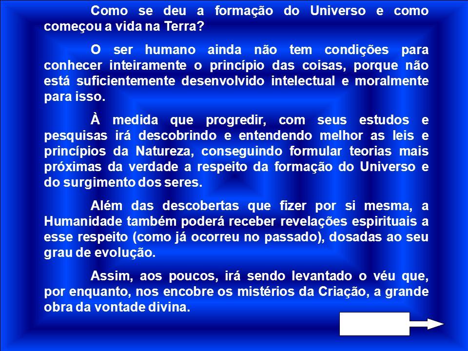 A CRIAÇÃO DO UNIVERSO Damião - Agosto/1999