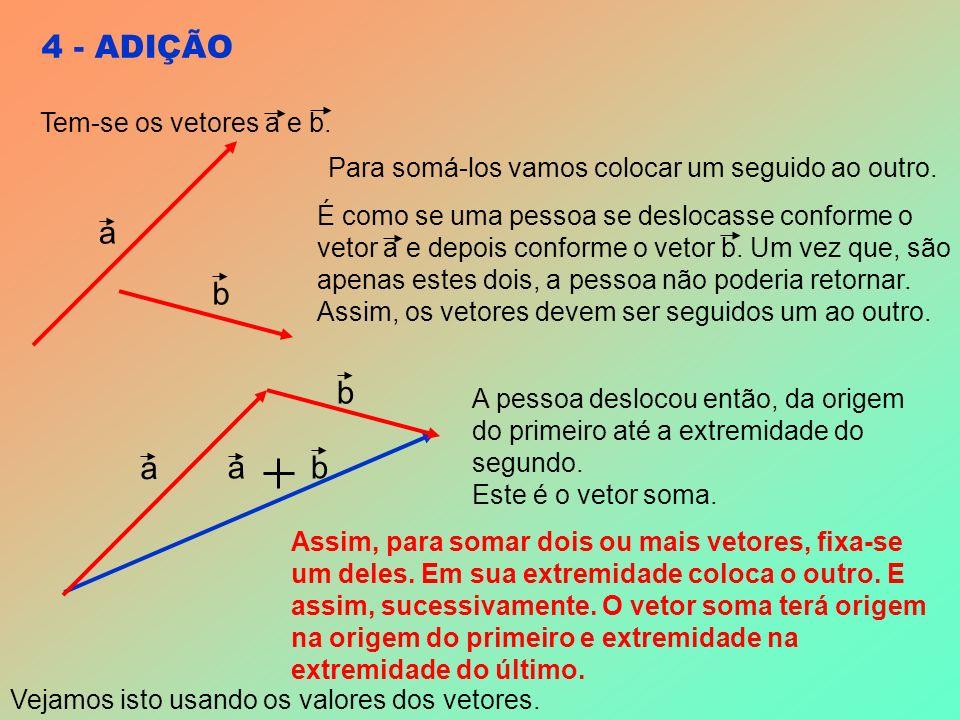 4 - ADIÇÃO a b a b ab Para somá-los vamos colocar um seguido ao outro.