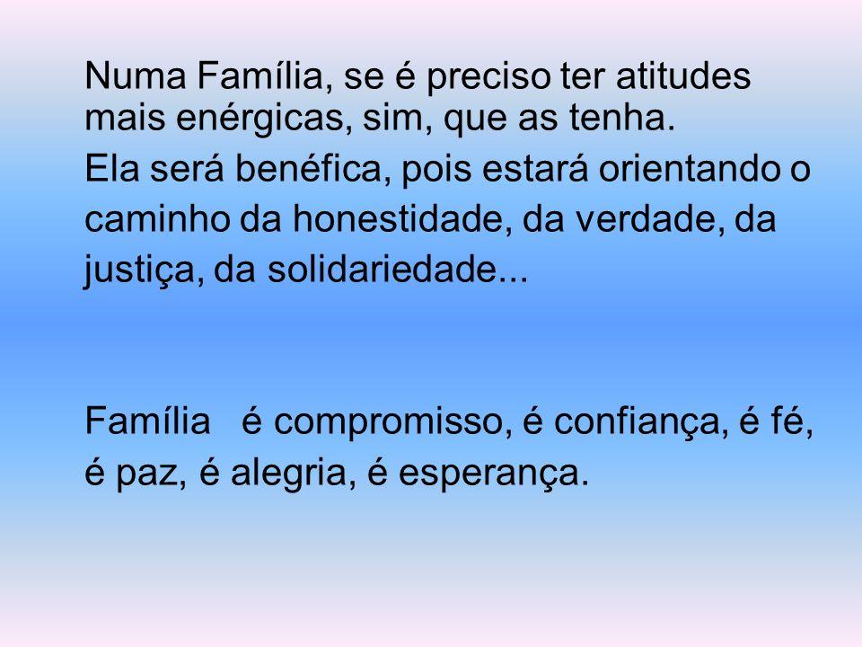 Uma grande família que além das responsabilidades de PAI, MÃE, FILHOS, AVÓS, TIOS..., têm o papel de cuidar e olhar bem de perto para os seus; de part
