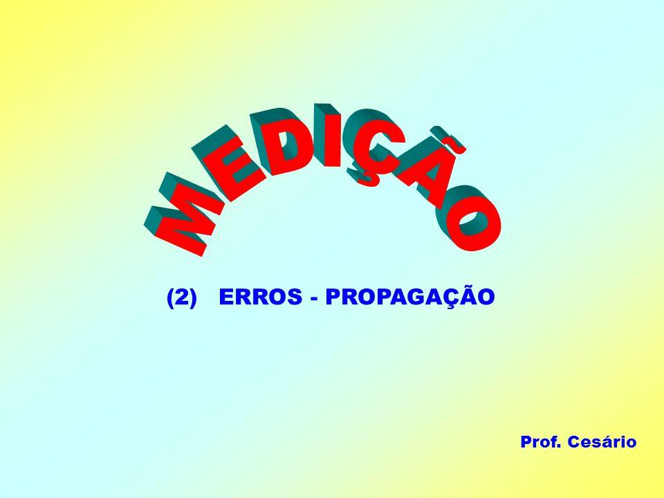 ERROS - PROPAGAÇÃO(2) Prof. Cesário