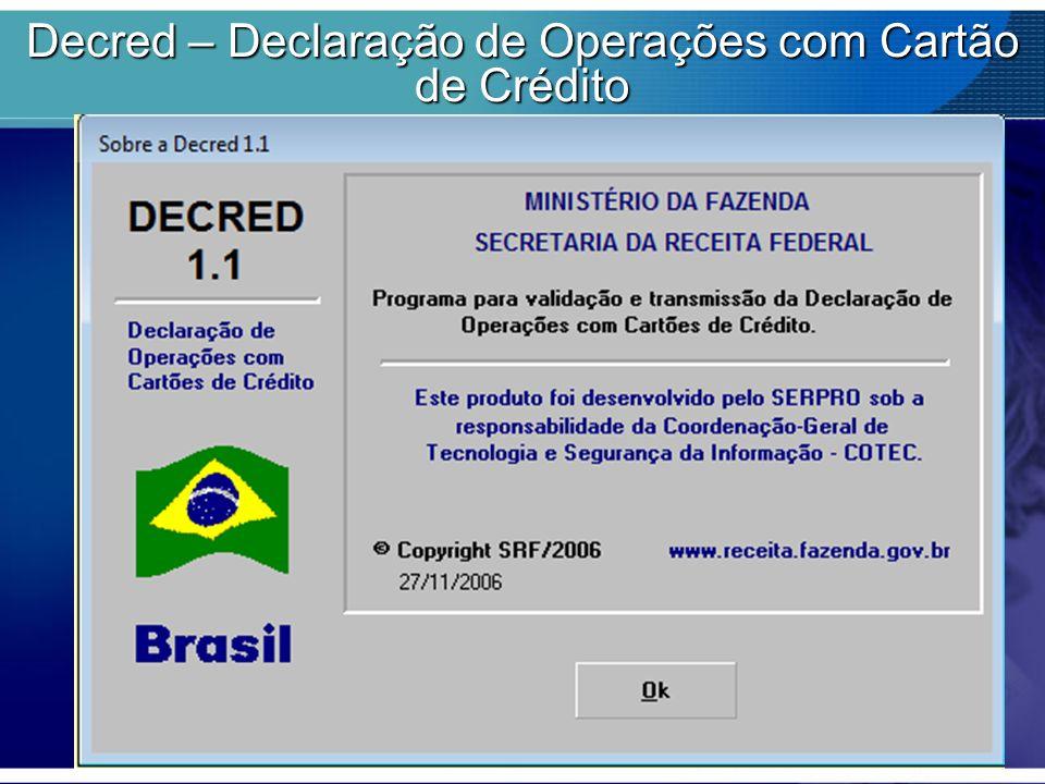 Decred – Declaração de Operações com Cartão de Crédito