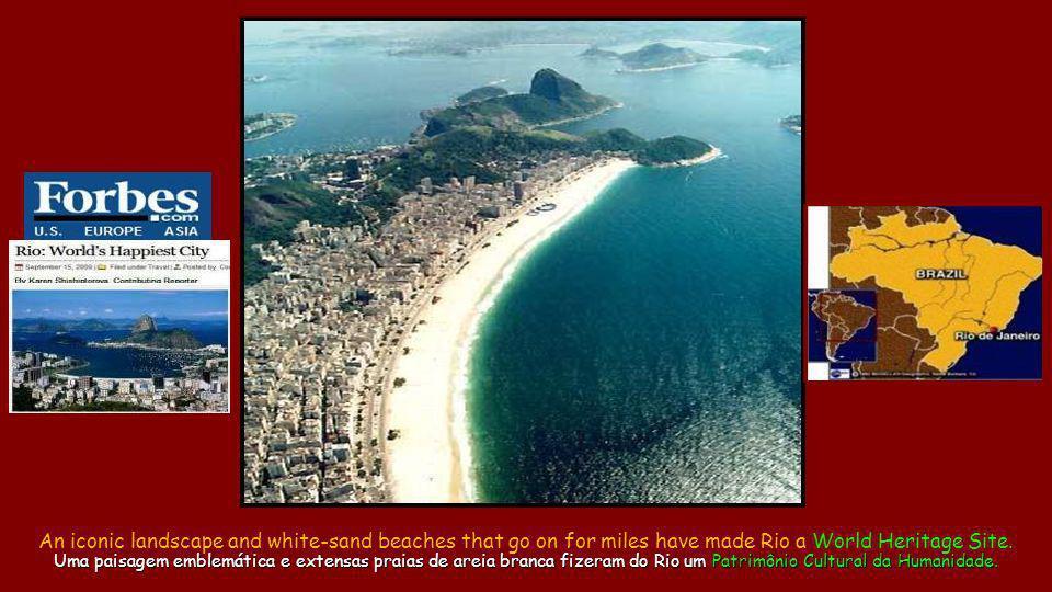 Copacabana and Red beach Copacabana e Praia Vermelha Rio getting ready for another special night.