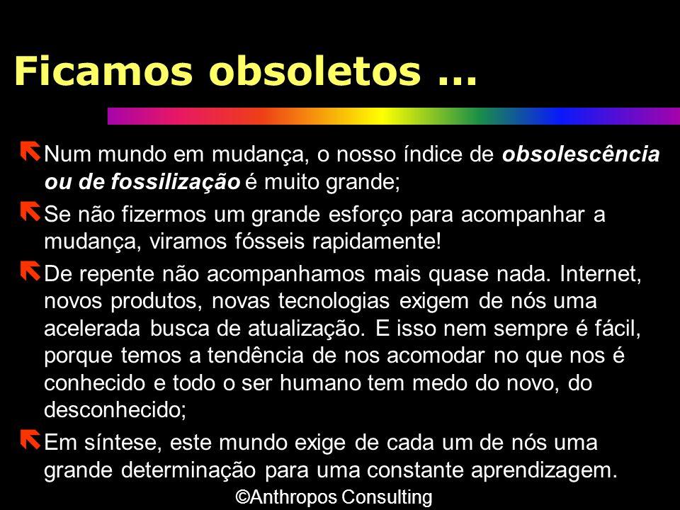 Ficamos obsoletos... ë Num mundo em mudança, o nosso índice de obsolescência ou de fossilização é muito grande; ë Se não fizermos um grande esforço pa