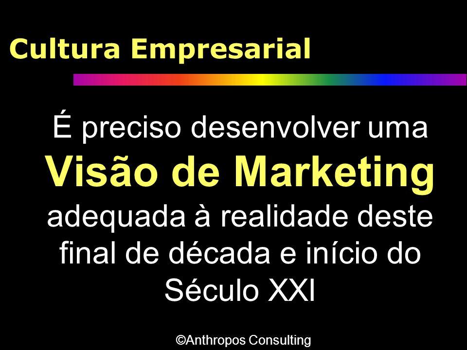 Cultura Empresarial É preciso desenvolver uma Visão de Marketing adequada à realidade deste final de década e início do Século XXI ©Anthropos Consulti
