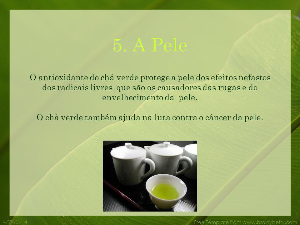 4/29/2014 Free Template from www.brainybetty.com 4. Perda de peso O chá verde ajuda o corpo a perder peso. Queima a gordura e é um estimulante natural