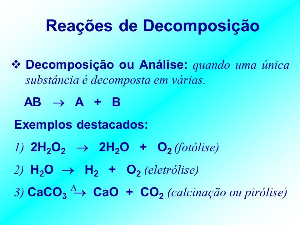 Reações de Síntese Reações de Síntese ou Adição: número variável de reagentes e formação de um único produto. A + B AB Exemplos destacados: 1) Element