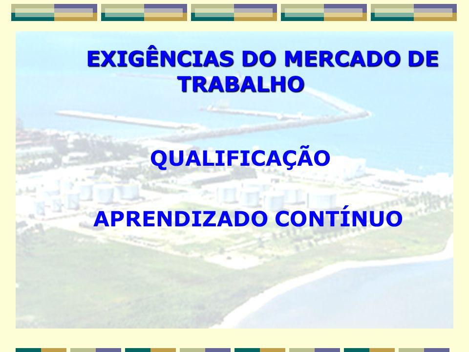 EXIGÊNCIAS DO MERCADO DE TRABALHO EXIGÊNCIAS DO MERCADO DE TRABALHO QUALIFICAÇÃO APRENDIZADO CONTÍNUO