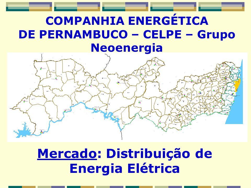 COMPANHIA ENERGÉTICA DE PERNAMBUCO – CELPE – Grupo Neoenergia Mercado: Distribuição de Energia Elétrica ESTADO DE PERNAMBUCO, Arquipélago de Fernando de Noronha e Pedras de Fogo (PB)