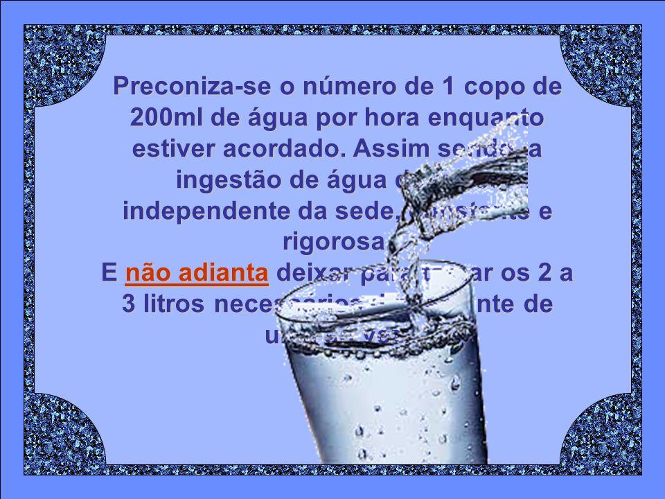 Todos os organismos vivos apresentam de 50% a 90% de água em si. O próprio corpo humano é constituído em 70% POR ÁGUA que, em constante movimento, hid